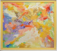 Mid Century Abstract Expressionist Painting by Shapiro