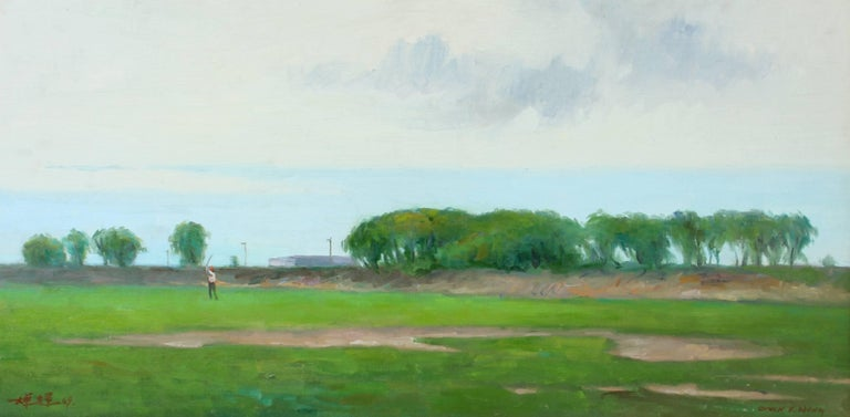 Chuck Fee Wong Landscape Painting - Golfing Long Island