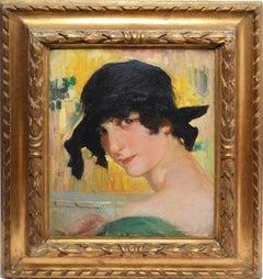 American School Art Deco Portrait of a Woman
