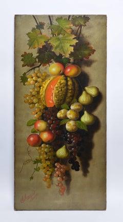 Italian Bounty, 19th Century Still Life by Michelangelo Meucci