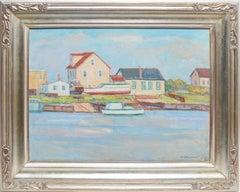 New England Impressionist Dock View by Joseph Grossman