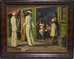 Sailors in Port, Panama 1942