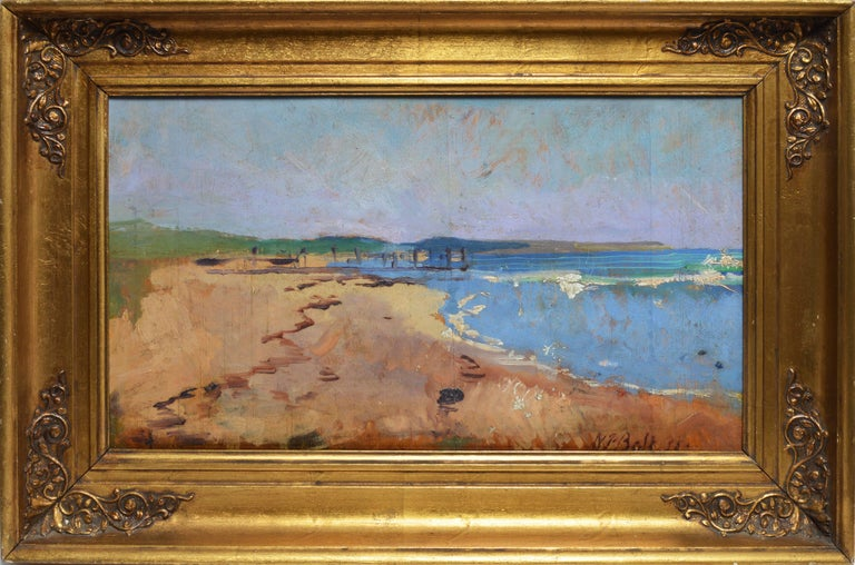 Unknown Landscape Painting - Modernist Beach View