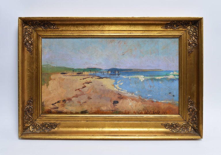 Modernist Beach View - Painting by Unknown