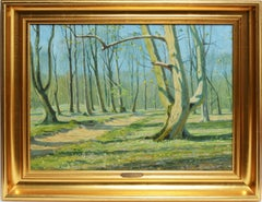 Sunlit Danish Forest by Arthur Nielsen