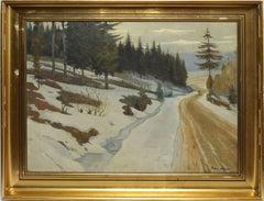 Walking the Path, Winter Landscape