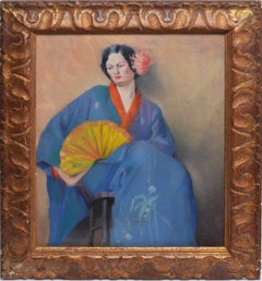 Portrait of a Woman in Japanese Clothes
