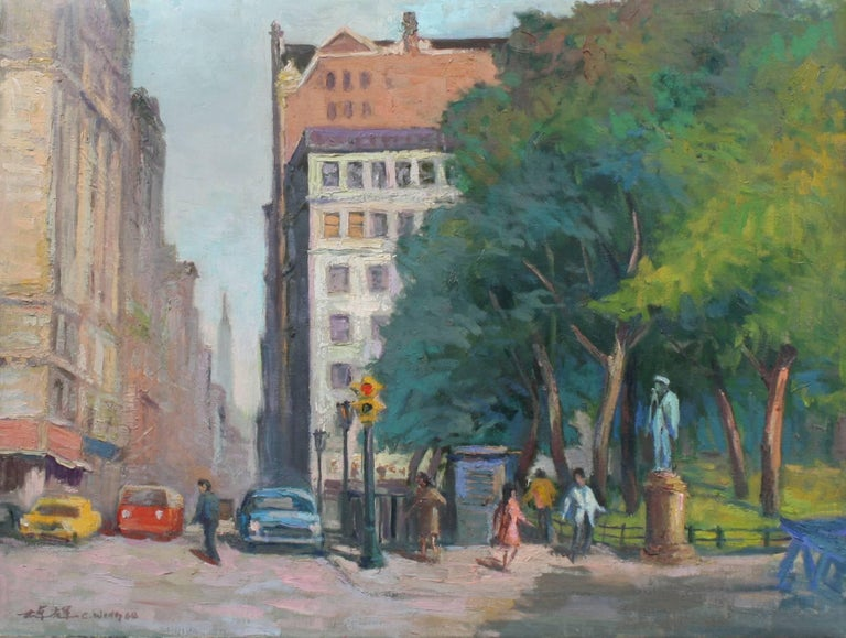 Chuck Fee Wong Landscape Painting - New York City Streets