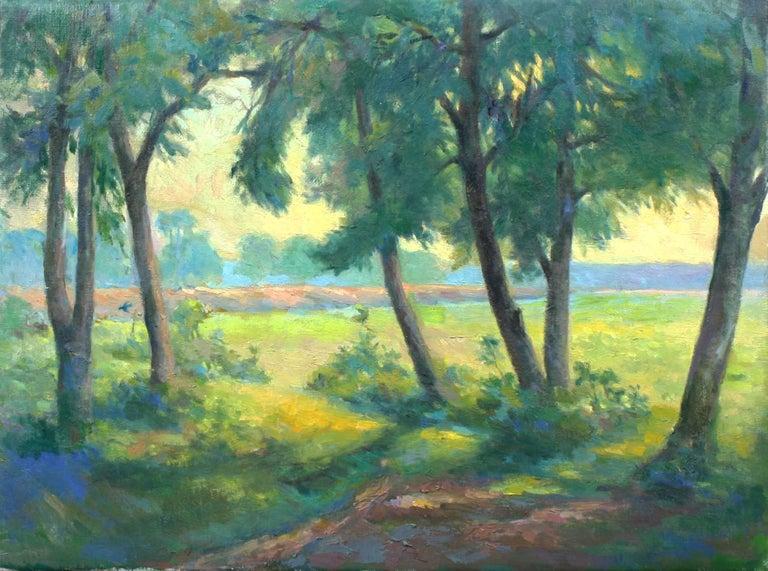 Chuck Fee Wong Landscape Painting - Bluebird