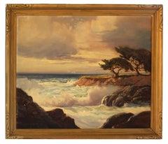 Crashing Surf on the California Coastline by George Bickerstaff