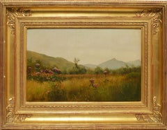 Hudson River School view with Wild Flowers by Roswell Shurtleff