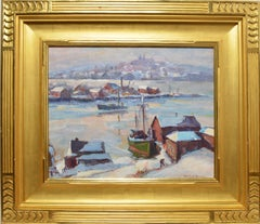Smith Cove Winter Harbor View by Emile Gruppe