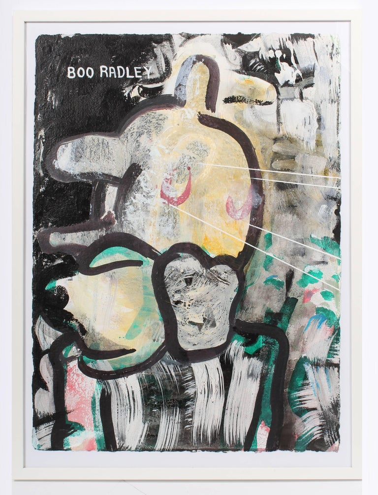Anthony Leone Abstract Painting - Portrait of Boo Radley