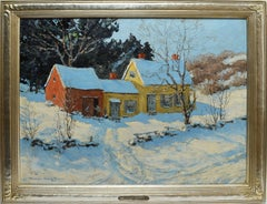 Winter Landscape with Barns by Marion Gray Traver