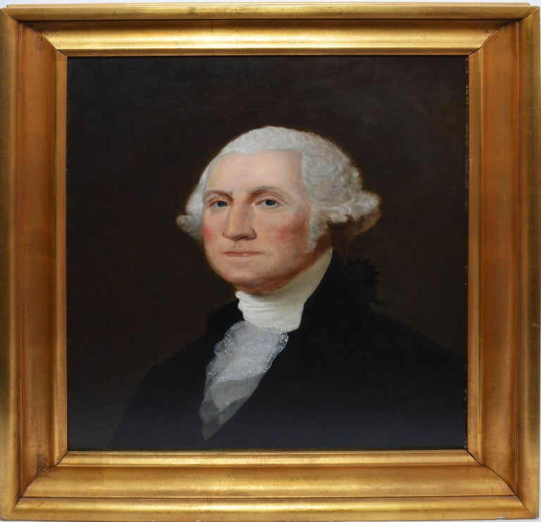 Unknown Portrait Painting - 19th Century American School Portrait of George Washington