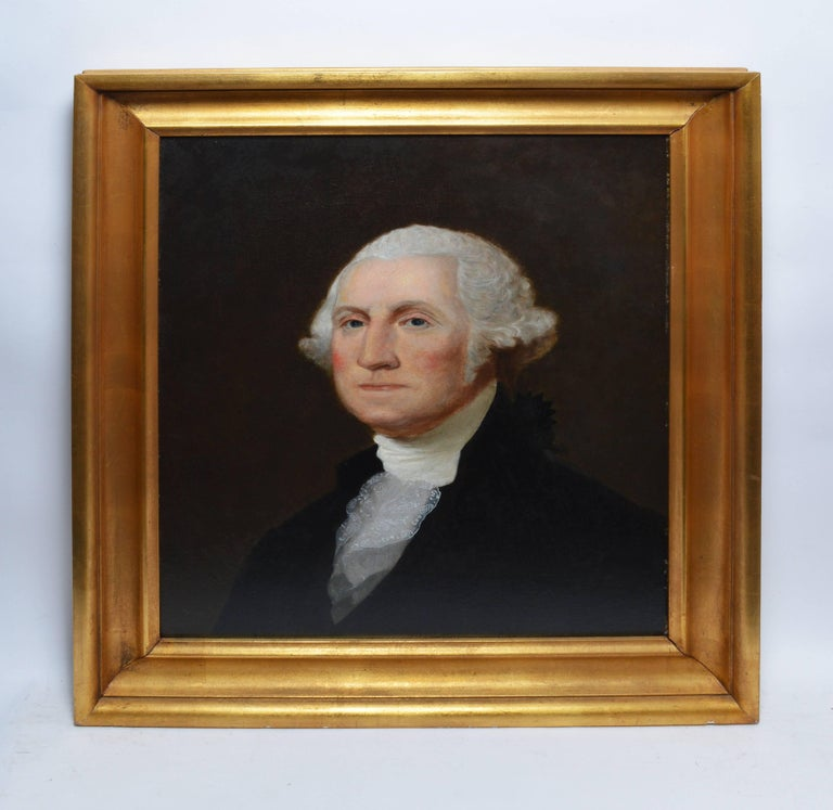 19th Century American School Portrait of George Washington - Painting by Unknown
