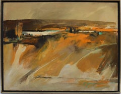 Modernist Sunset River Landscape by Paul Zimmerman