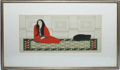 """""""Soliloquy"""" Signed and Numbered Serigraph by Will Barnet"""