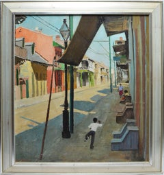 Large Modernist View of the French Quarter New Orleans by Peter Hayward