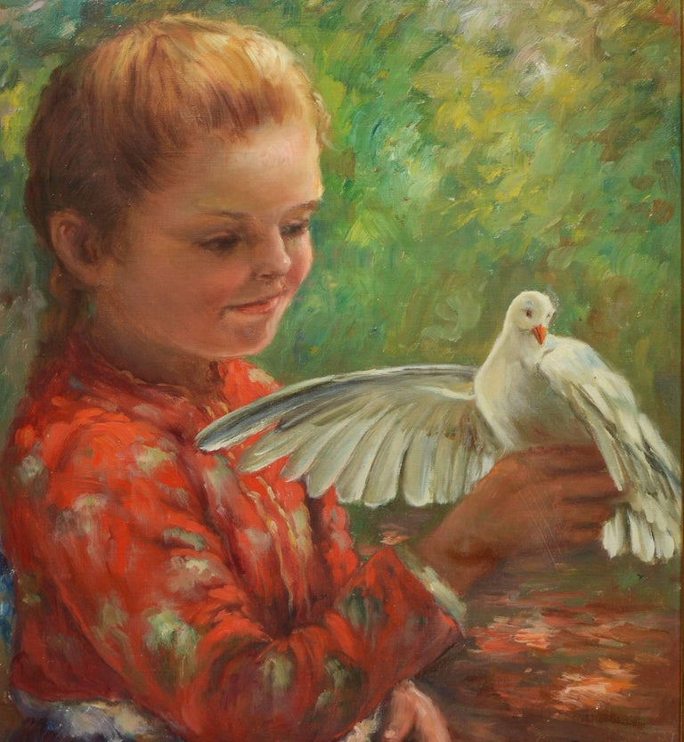 Portrait of a Young Girl with a Dove 4