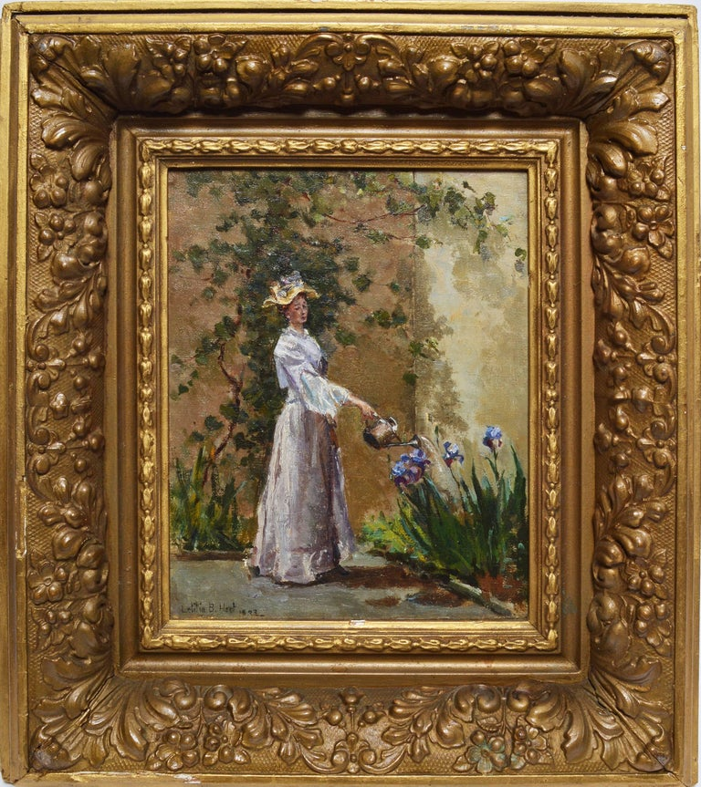 Watering the Flowers by Letitia Bonnet Hart