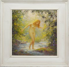 """""""The Cool Water"""", Nude Woman in the Forest by Gaspare J Ruffolo"""