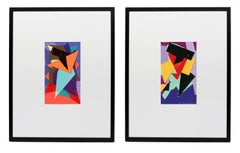 Pair of Cut Paper Collages
