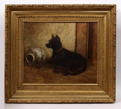 Portrait of a Dog and Waterjug