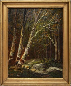 Hudson River School Forest Landscape by William Hilliard
