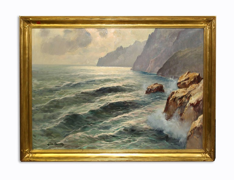Guido Odierna Landscape Painting - Cloudy Day Capri