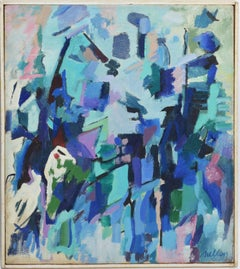 """Abstract Expressionist Composition, """"The Lightburst"""", by Albert Mullen"""