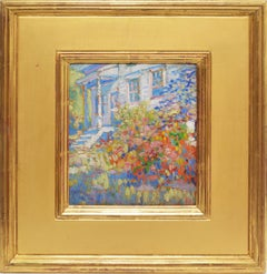 American Impressionist School, View of a Flower Garden