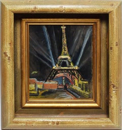 View of the Eifel Tower at Night, Paris Modern