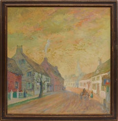 Impressionist View of a Town Street by Benjamin Sayre Cory Kilvert