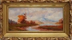 Hudson River School Fall Landscape by George T. Hobbs