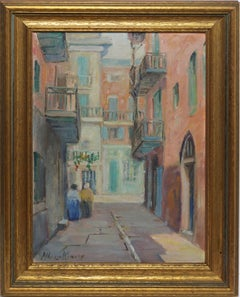 Impressionist View of a New Orleans Courtyard by Alberta Kinsey