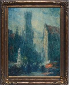 European School Impressionist Street Scene