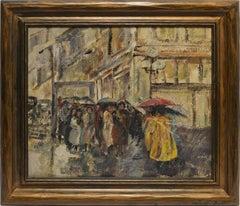 Modernist View of a Rainy Street