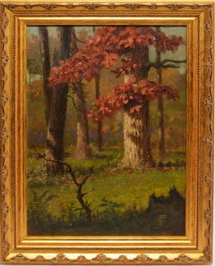 Romantic Sunlit View of a Forest by Frank Waller