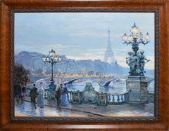View of Paris with the Eiffel Tower, Omar Hamdi Malva