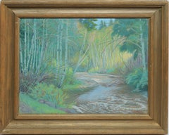 American Impressionist School, View of a Brook in Maine