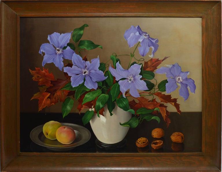 Trompe L'Oeil Flower Still Life by Joan Nugent