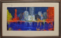 American School Abstracted Philadelphia Cityscape