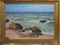 California Impressionist Beach View by Robert Williams