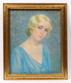 Art Deco Portrait of a Young Blonde