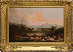 Hudson River School Landscape Circa 1840 by Charles Octavius Cole
