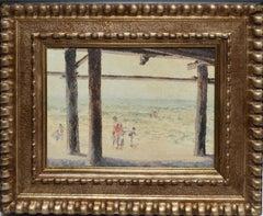 Summer Day at Crystal Pier at Pacific Beach California by Wanda de Turczynowicz