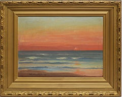 1918 American Landscape, Sunset Beach View by Jean Pfister