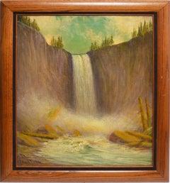 View of the Vernal Falls, Yosemite California by James Everett Stuart
