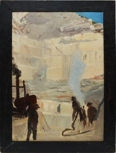 Plein Aire Sketch of the Marble Mountains 1905
